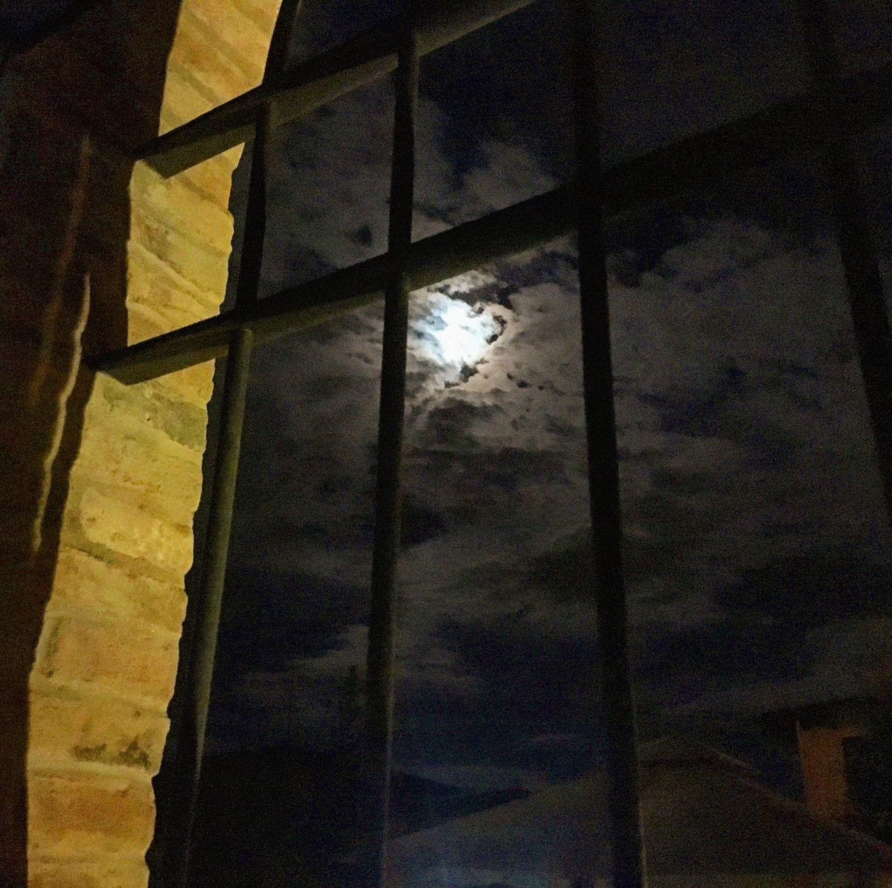Low Angle View Window Sky Cloud - Sky Moon No People Night