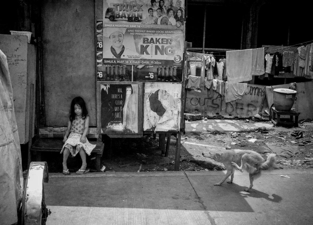 Streetphotography Blackandwhite EyeEyem Animal Child Poor  Dog Street City Citystreet Monochrome Bw Life Weak Fighting Struggling Begging Hoping