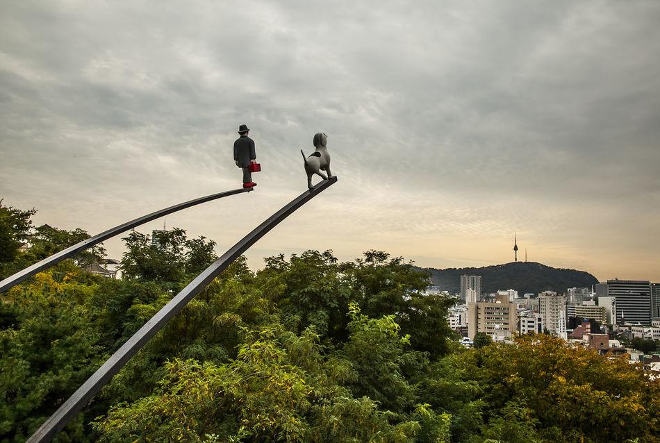 Naksan Park Cloudy Haewhadong Gentleman And Dog Seoul Korea