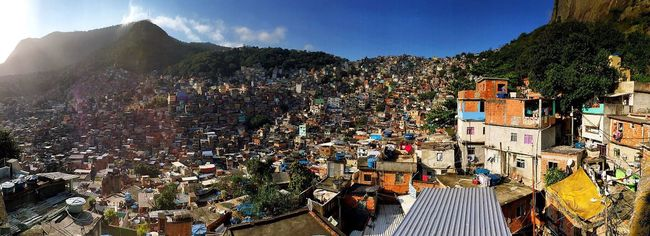 Architecture Building Exterior Built Structure Mountain Crowded High Angle View City Tree House Panoramic TOWNSCAPE Town Roof Cityscape Sky Mountain Range City Life Outdoors Rooftop Wide Shot Favela Favelabrazil Brazil Rio De Janeiro Panorama