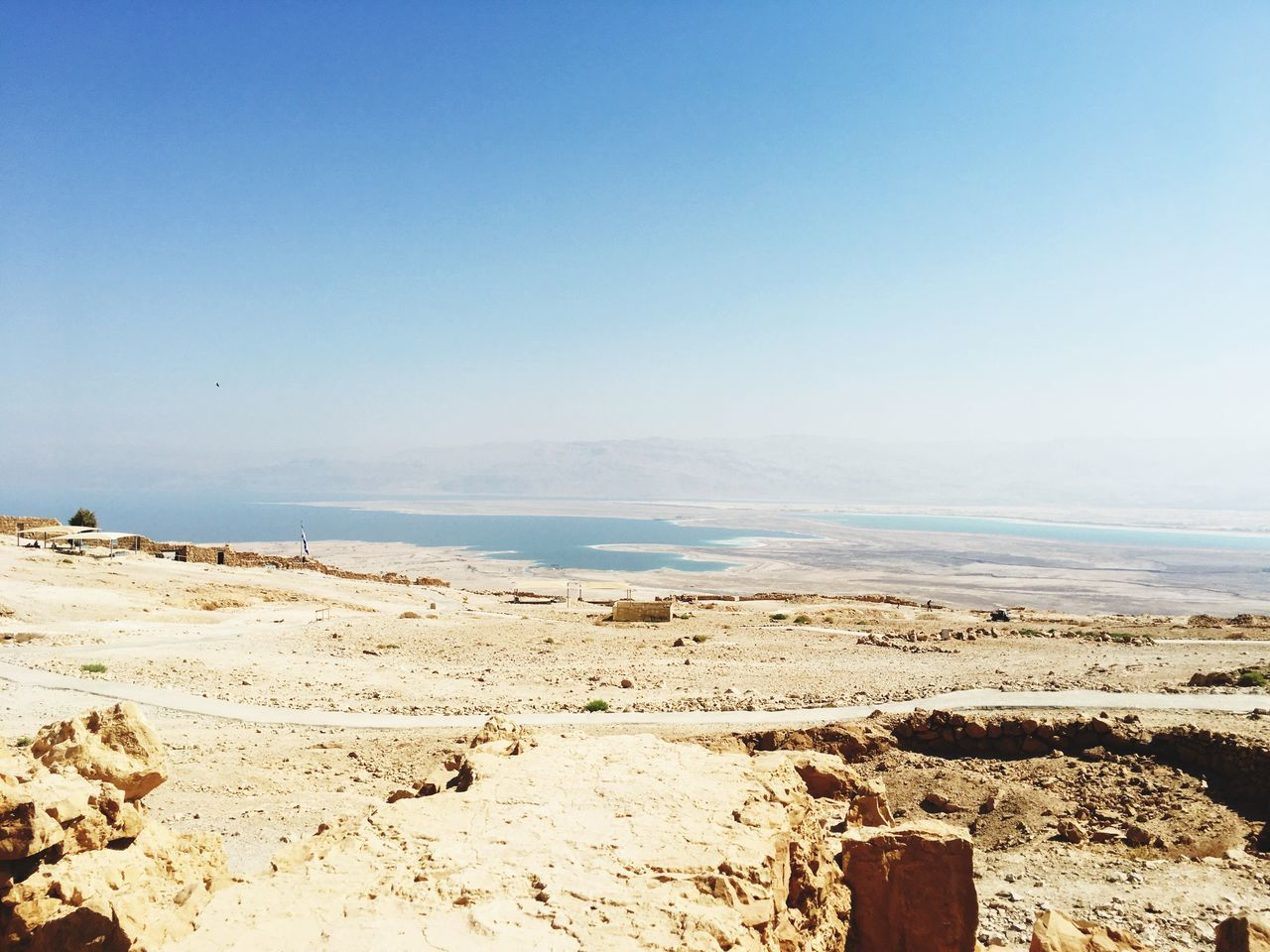 dead sea from masada Tourism Scenics Pp