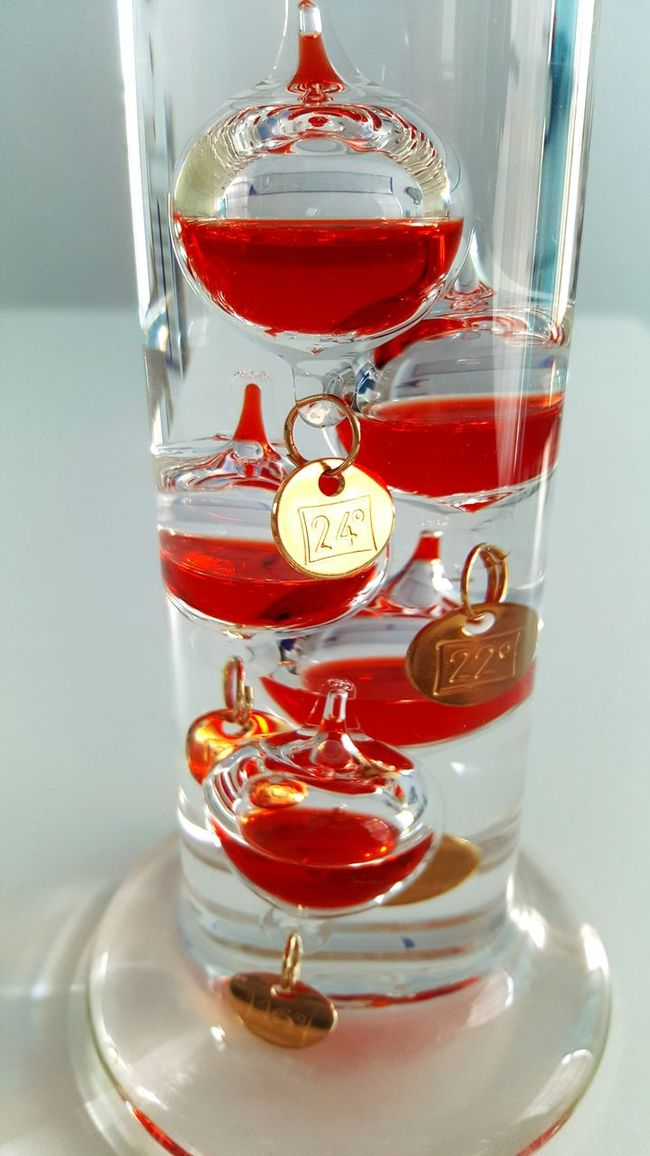 Galileo Thermometer Red No People Thermometer Thermomet