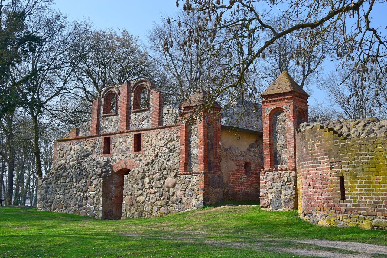 Architecture Building Exterior Day Fieldstone Grass Historic Historical Building History Nature No People Old Old Buildings Outdoors Travel Destinations Tree Wasserburg Gerswalde