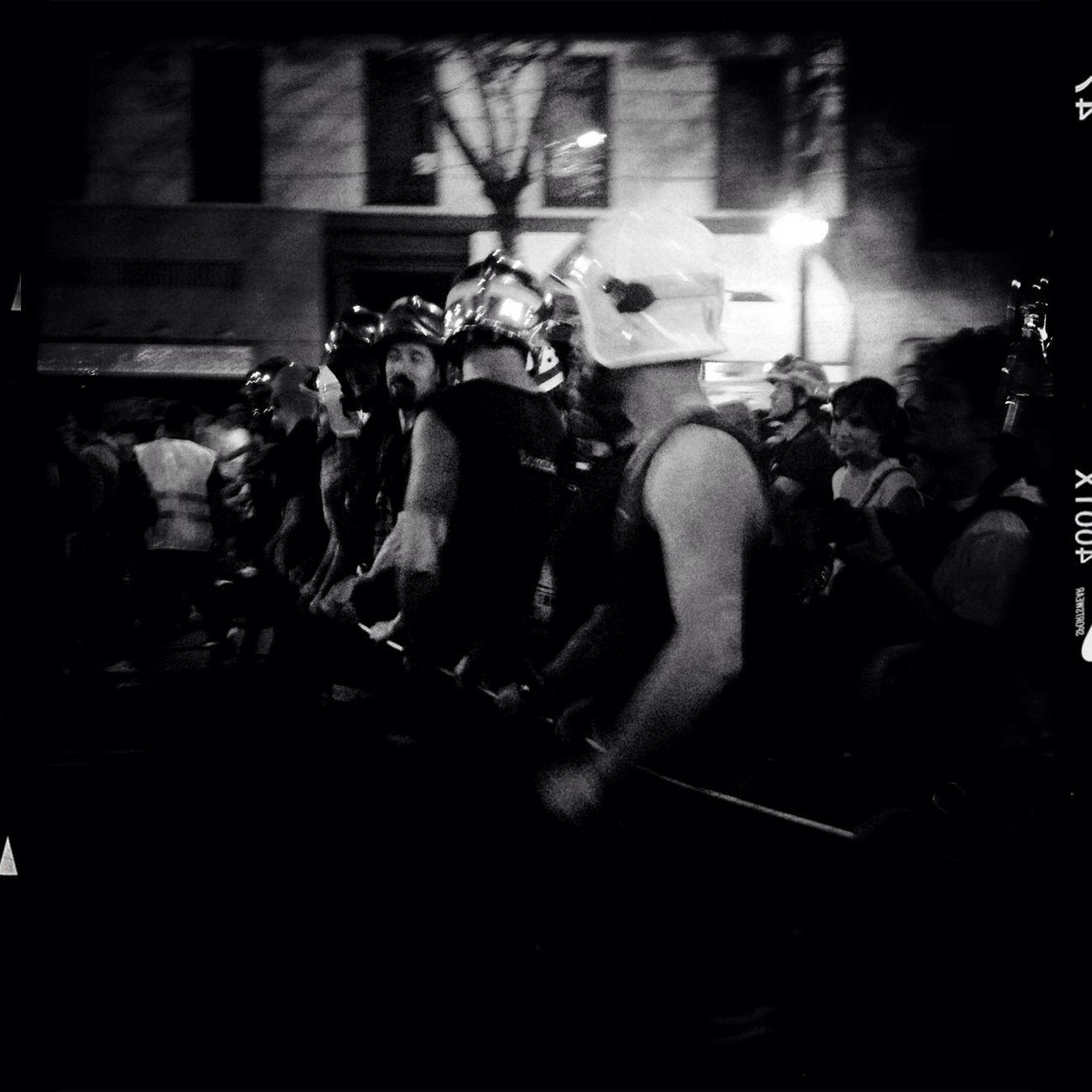 Marcha Negra Streetphoto_bw Streetphotography Street Photography Black & White Blackandwhite Monochrome StreetsWithPeople