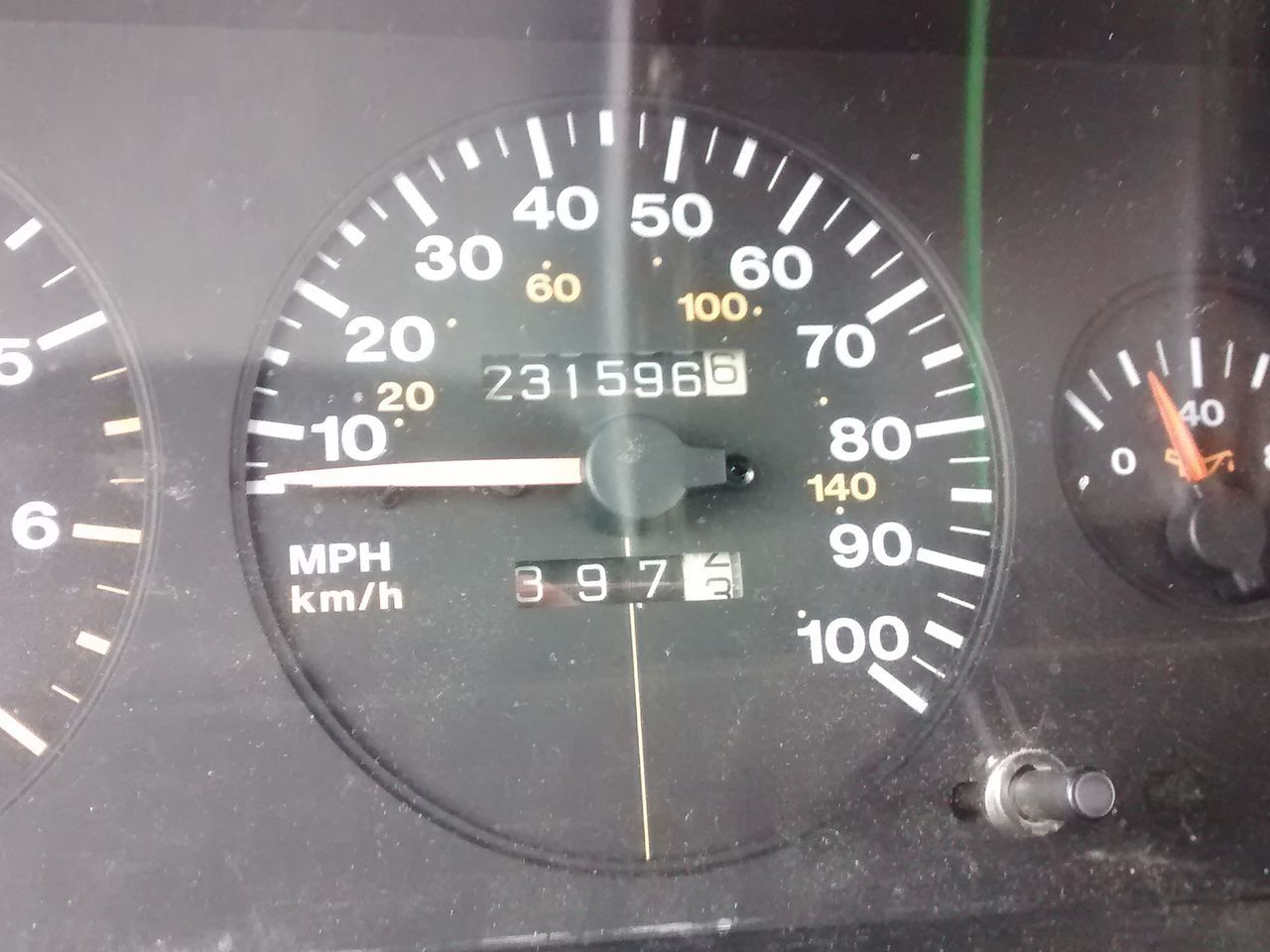 Car Odometer Mileage  High Miles Old Classic Classic Car 21 Years Old Beautiful