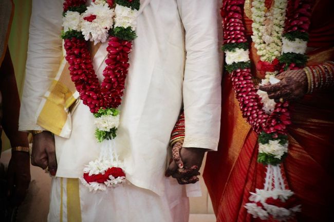Couple Holding Hands Indian Wedding Traditional Wedding Wedding Weddings Around The World