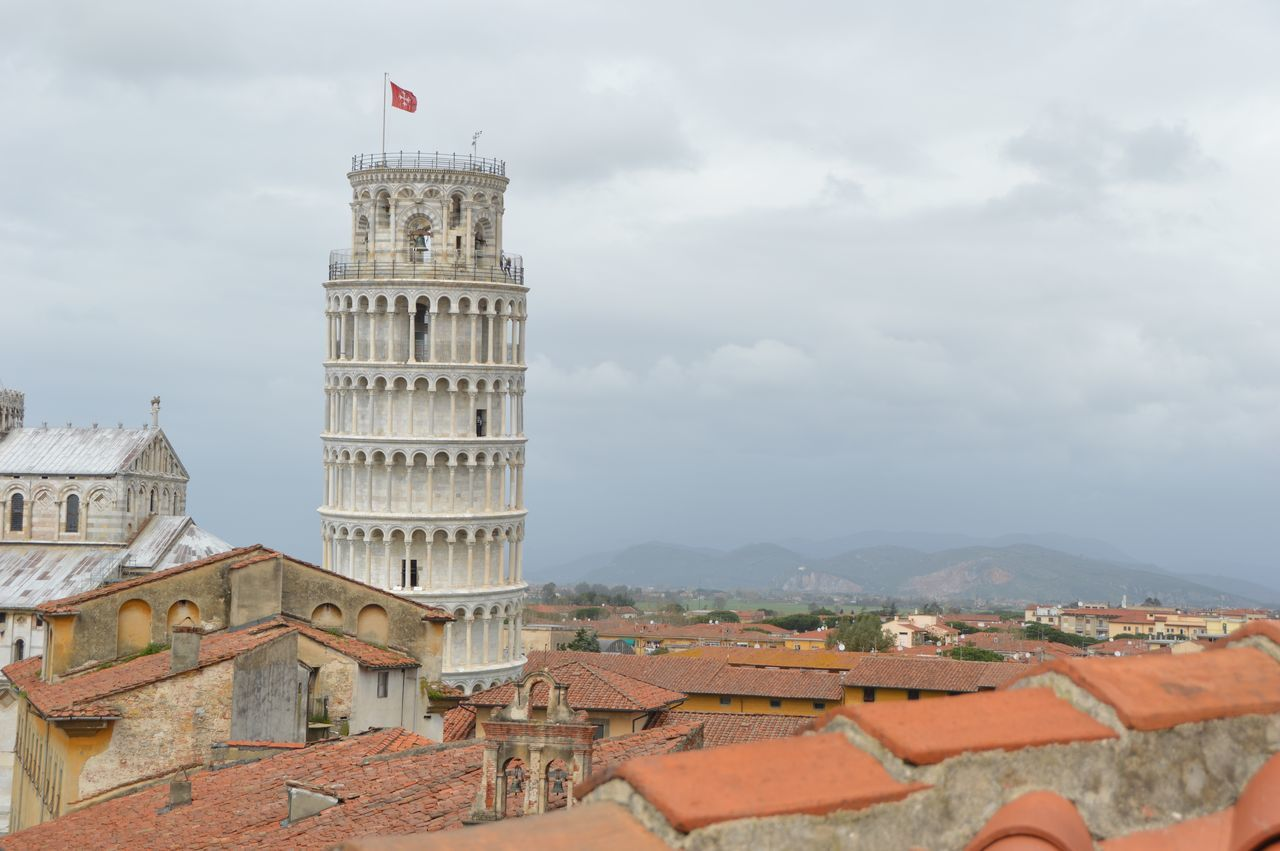 Above The Roofs The Leaning Tower Architecture Capital Cities  Cloud - Sky History No People Outdoors Tourism Travel Destinations
