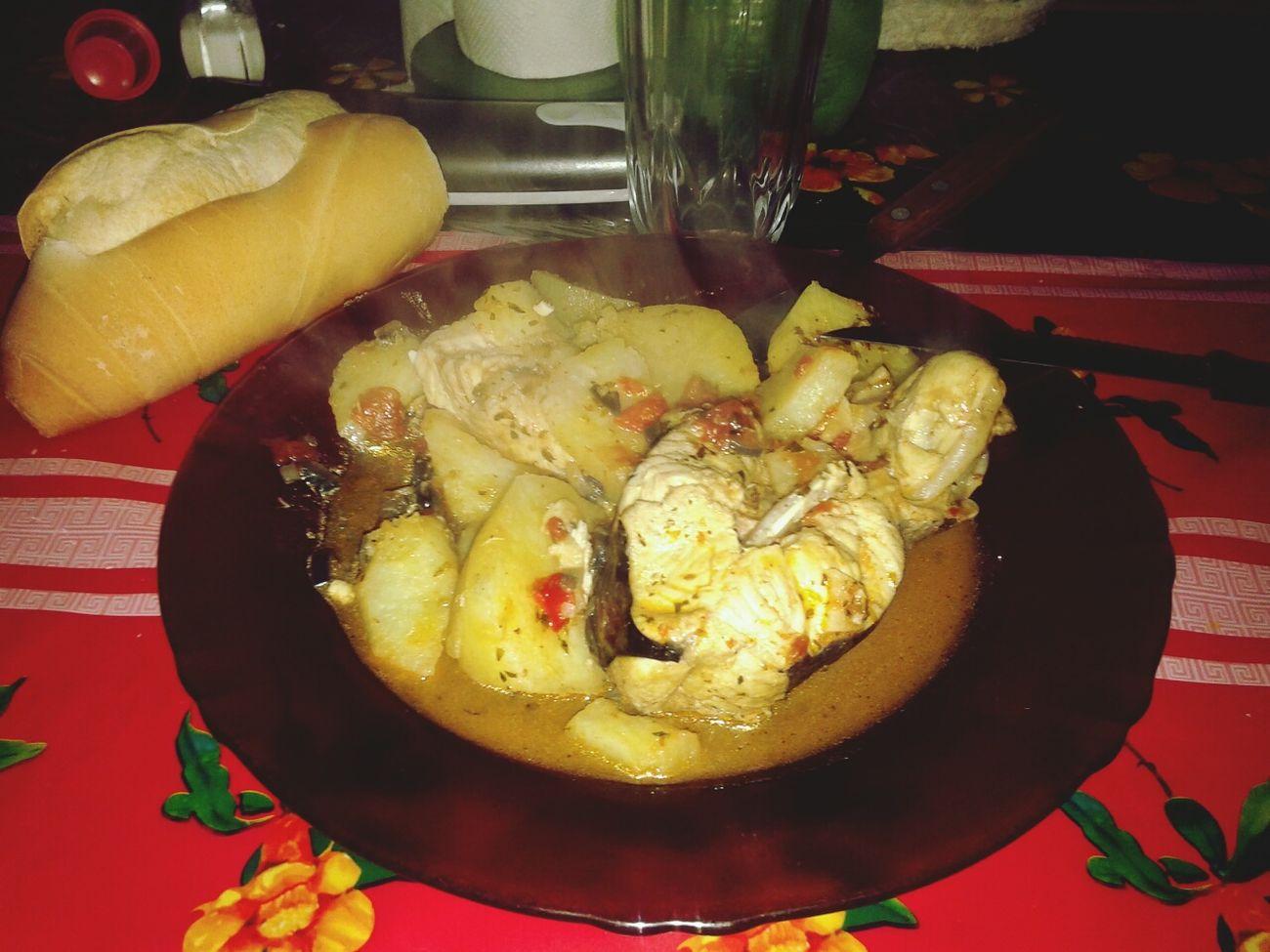 Pollo de Mar con papas