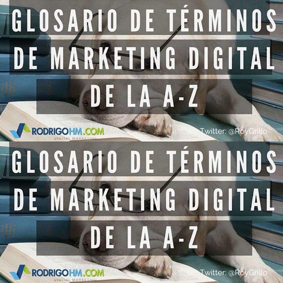 Comparto un glosario de Términos de Marketing Digital Infografía http://t.co/Vid1IiqTCk