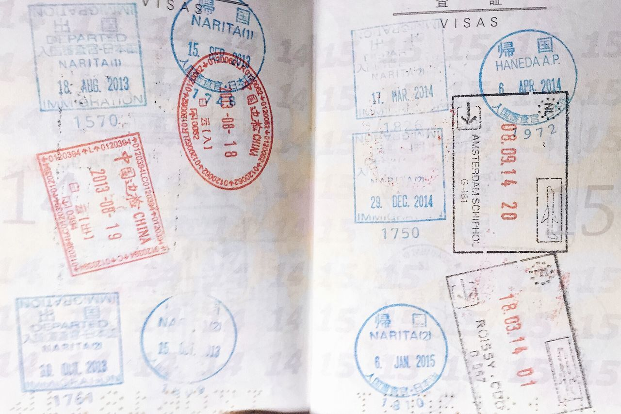 25 and counting... Paper Text Passport Stamp Passport Stamps Textures And Surfaces Travel Visa Paper Work Frontier Country Entrance Adventure
