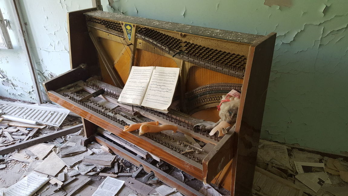 Abandoned piano with doll parts in Pripyat near Chernobyl Eyem Best Shots Lost Places EyEmNewHere Sign Soviet Ukraine Chernobyl Pripryat Nuclear Sheets Old Ruin Chernobyl Exclusion Zone Eerie Eerie Beautiful Run Down Abandoned Lost Place Ghost Town Doll Doll Parts Piano Broken Indoors  Music Piano No People Day Musical Instrument Architecture