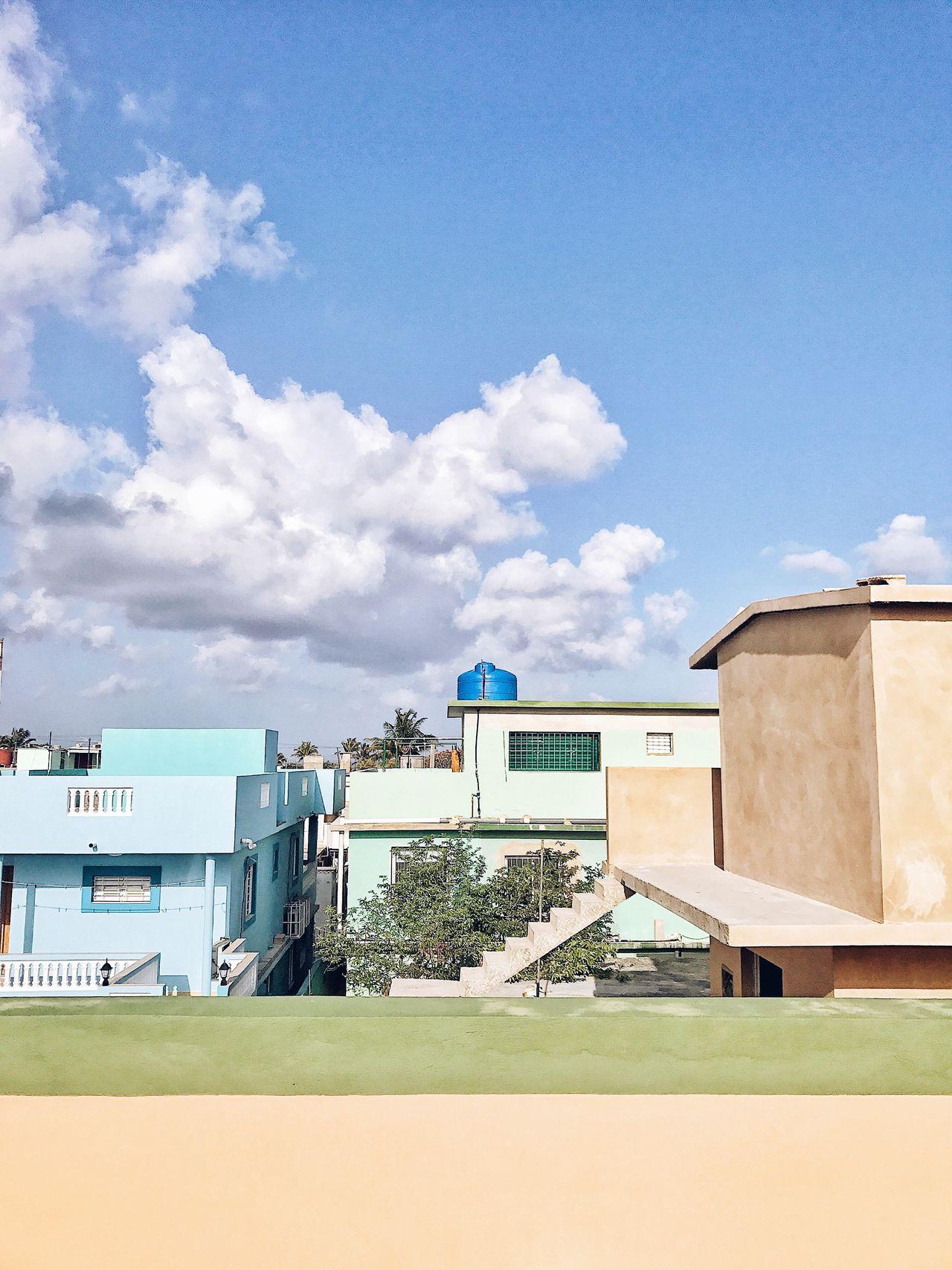 Pastel colors of Boca de Camariorca. Built Structure Architecture Building Exterior Cloud - Sky Sky Blue Cuba Village Small Town Pastel Colors Colored Houses Geometry