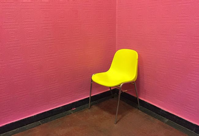 Empty Chair Put Some Yellow In Your Life Art Minimalism Iphone6 Mobilephotography Fine Art Photography