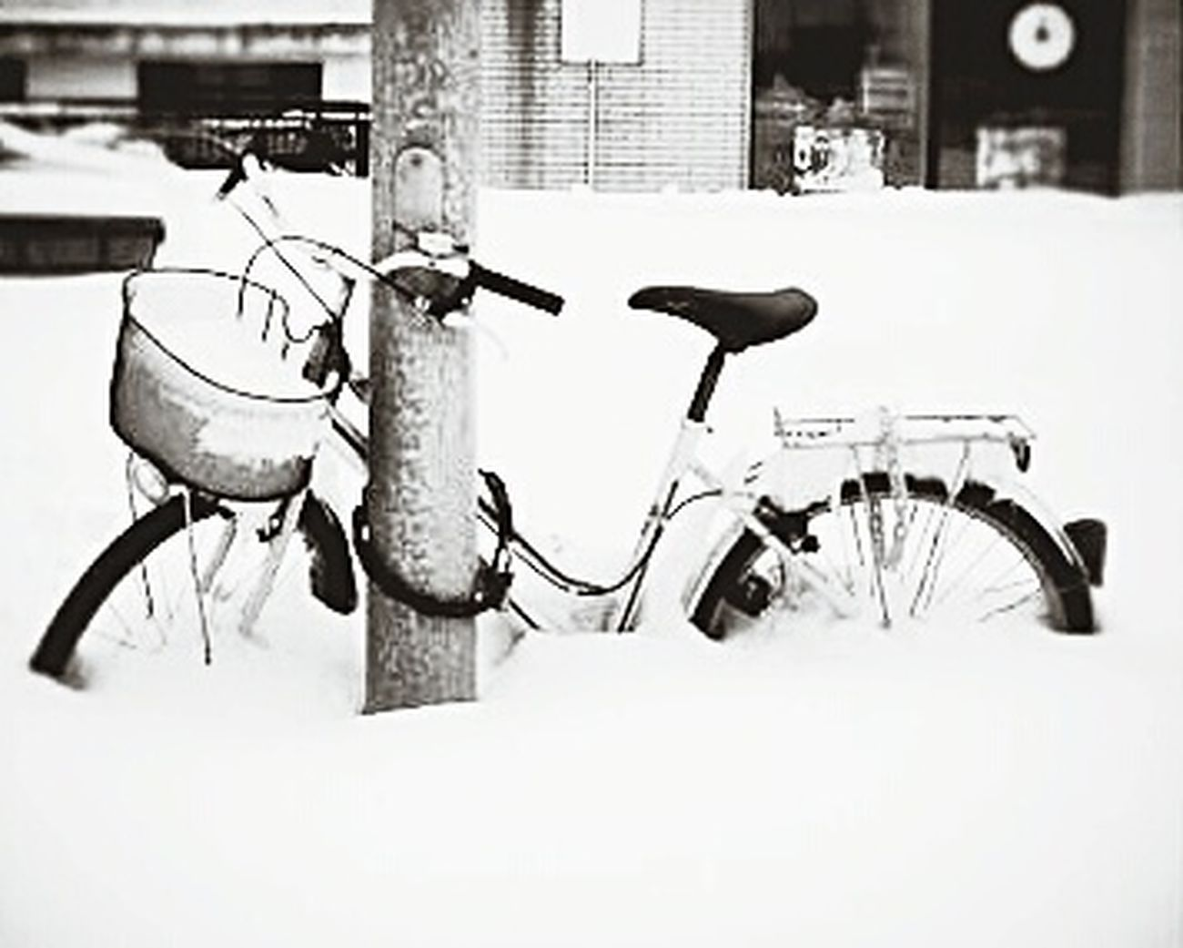 Snow Winter Season  Clouds Recombinant Bike Cold Eye4photography  EyeEm Gallery Canon EyeEm Whrite Blackandwhite