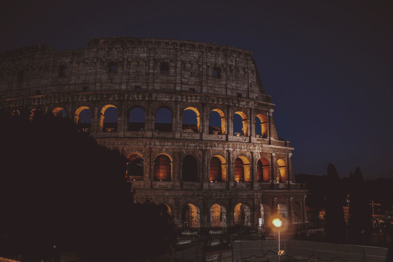 Night Arch Travel Destinations Tourism History Architecture Illuminated Monument Travel Arts Culture And Entertainment Old Ruin Ancient Triumphal Arch Vacations Outdoors City Cityscape People Sky Coliseum Colosseo Coliseo Romano Architecture No People