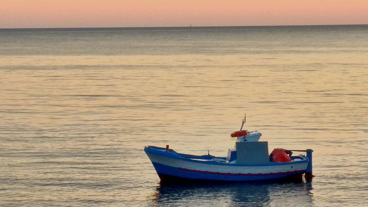 Barca Da Pesca Isole Egadi Favignana Favignana's Sea Nautical Vessel Water Sea Sunset Outdoors Nature No People Sky Day First Eyeem Photo