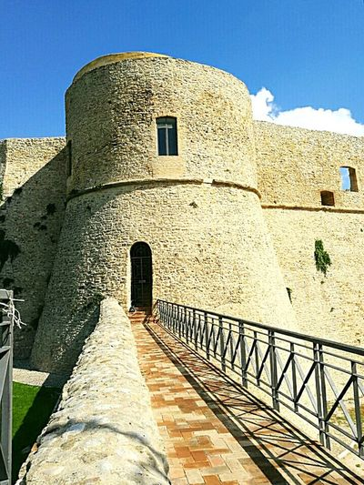 Towers And Sky Tower Ortona's Castle Fortified Wall Stone Material Castle Tower Castle