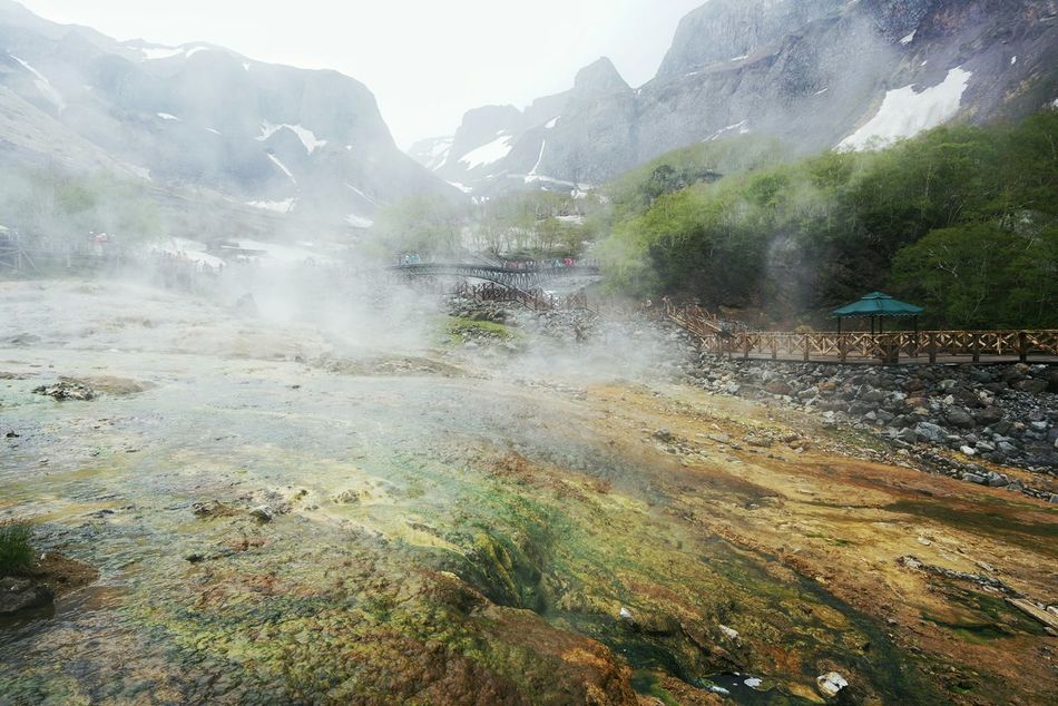 China Photos 백두산 Dormant Volcano Mountains Travel Spilling Out Hot Spring Water Nature Landscape Landscape #Nature #photography Walking Around Light And Shadow Streamzoofamily