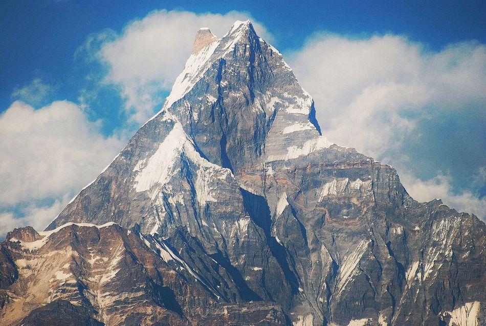 Beautiful stock photos of annapurna, Annapurna Machapuchare, Beauty In Nature, Blue, Cloud - Sky