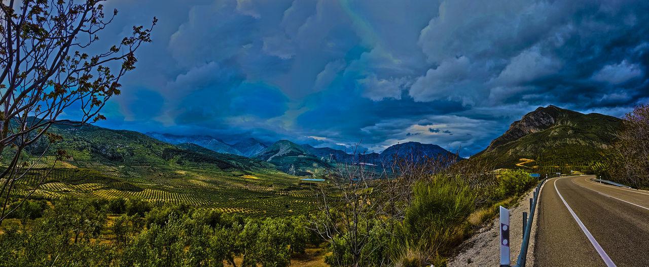 """""""Quien volviendo a hacer el camino viejo aprende el nuevo, puede considerarse un maestro"""" — Confucio Andalucía Andalucía Nature Blue Cloud - Sky Jaen Province Mountain Road Sierra Magina Sky Tranquility"""