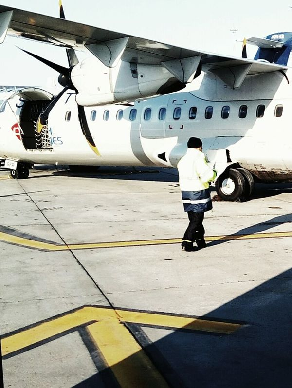 Airplane Transportation Airport Runway Propeller Airplane Prop Plane Tarmac Plane Boarding A Plane