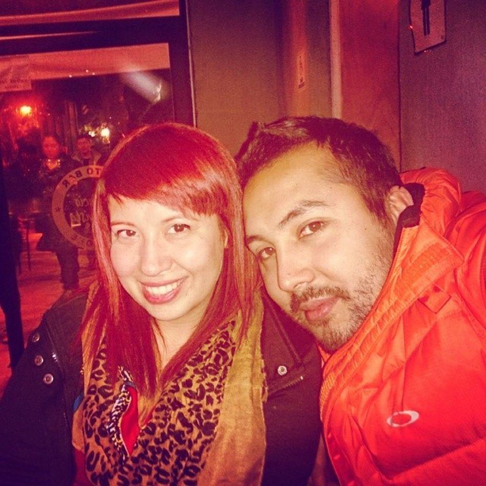 Con la instructora @doriwi en el karaoke Instachile Partyup Party Karaoke beer night instanight