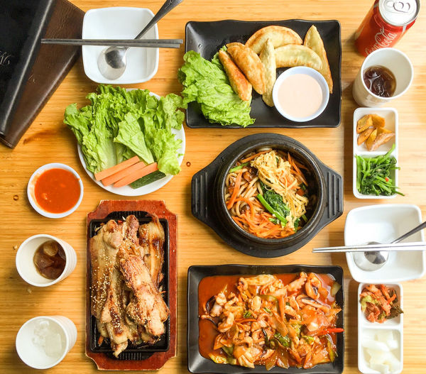 Korean food. Yummy!!! Cocacola Food Kimchi Korean Food Lunch Meat Ready To Eat Salad