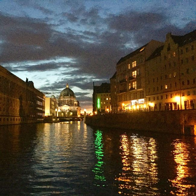 summer night on the spree in berlin with view on the berliner dom Berlin Summer Nights Dome
