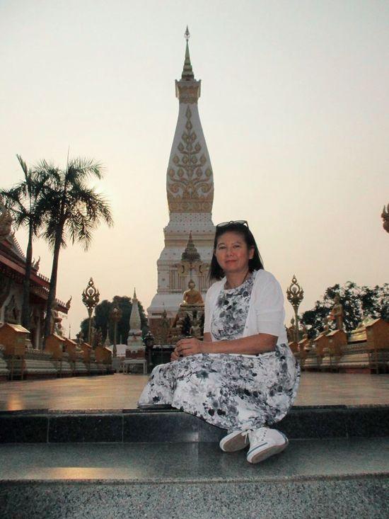 Self Portrait Around The World Nakorn Phanom Temple Praying Buddhism Ampai Jangbumrung 🏌 Portrait Of A Woman Traveling Faces Of EyeEm Elegance Everywhere