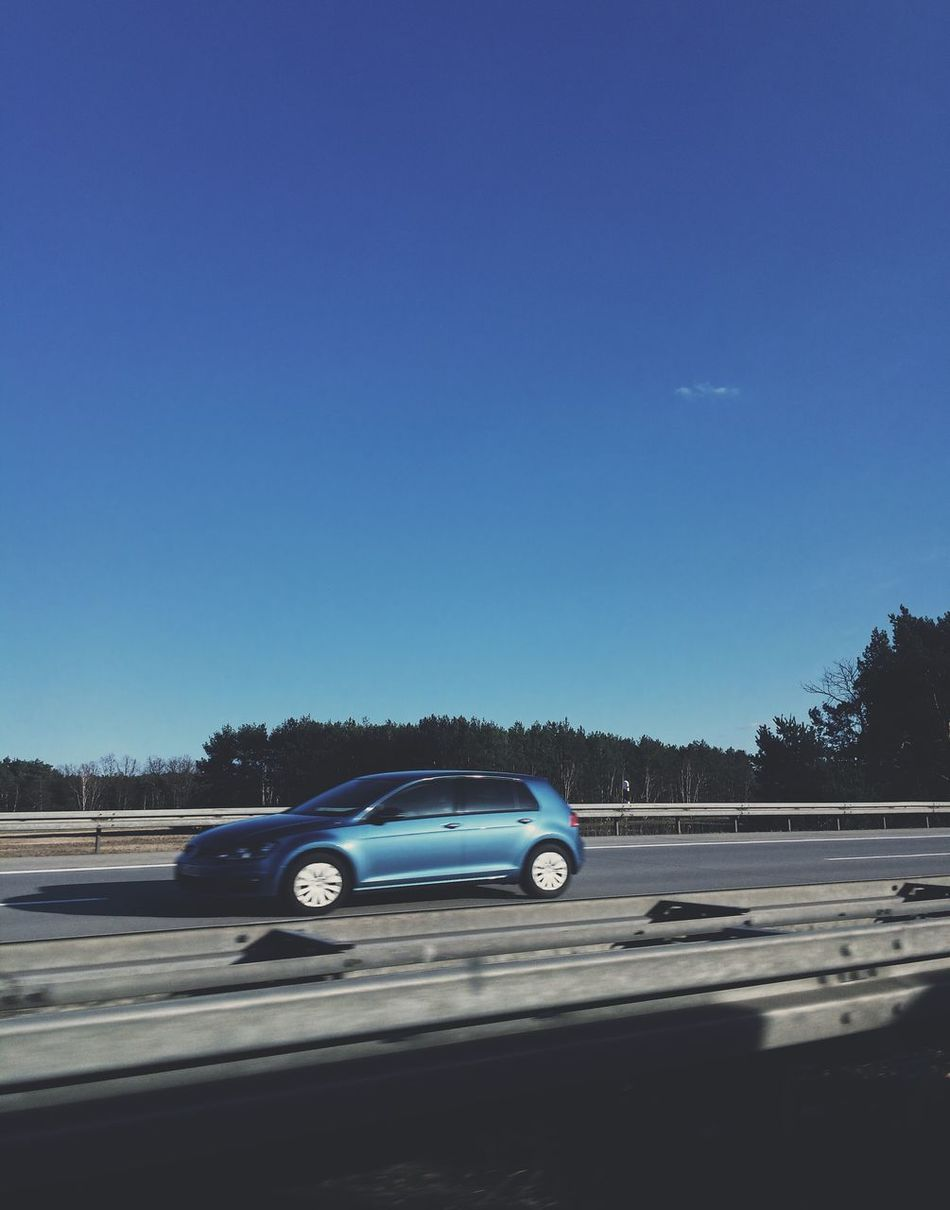 Blue Transportation Copy Space Car Road Clear Sky Mode Of Transport No People Outdoors Journey Nature Day Sky Police Car
