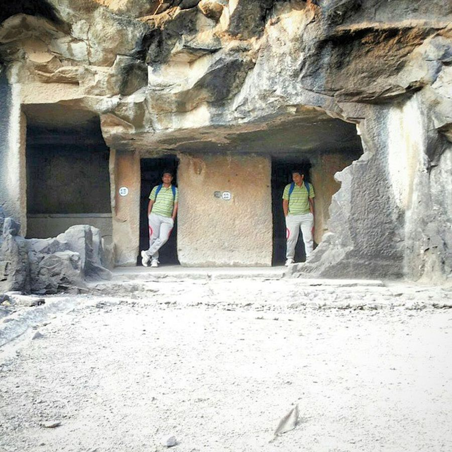 Phto credits & edits - @t3j45 Duo me part 2 Dual DoubleMe Caves Exploring Pandavleni Picsart Edits BeingME Beingdouble Fun Trekking