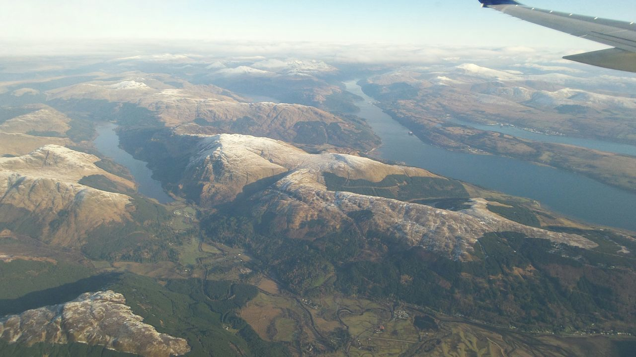 Aerial View Mountain Landscape Travel Non-urban Scene Airplane Flying Beauty In Nature Extreme Terrain Nature Scotland Highlands Scottish North Scotland Travel Scotland Wild Landscape Scotlandsbeauty Scotland