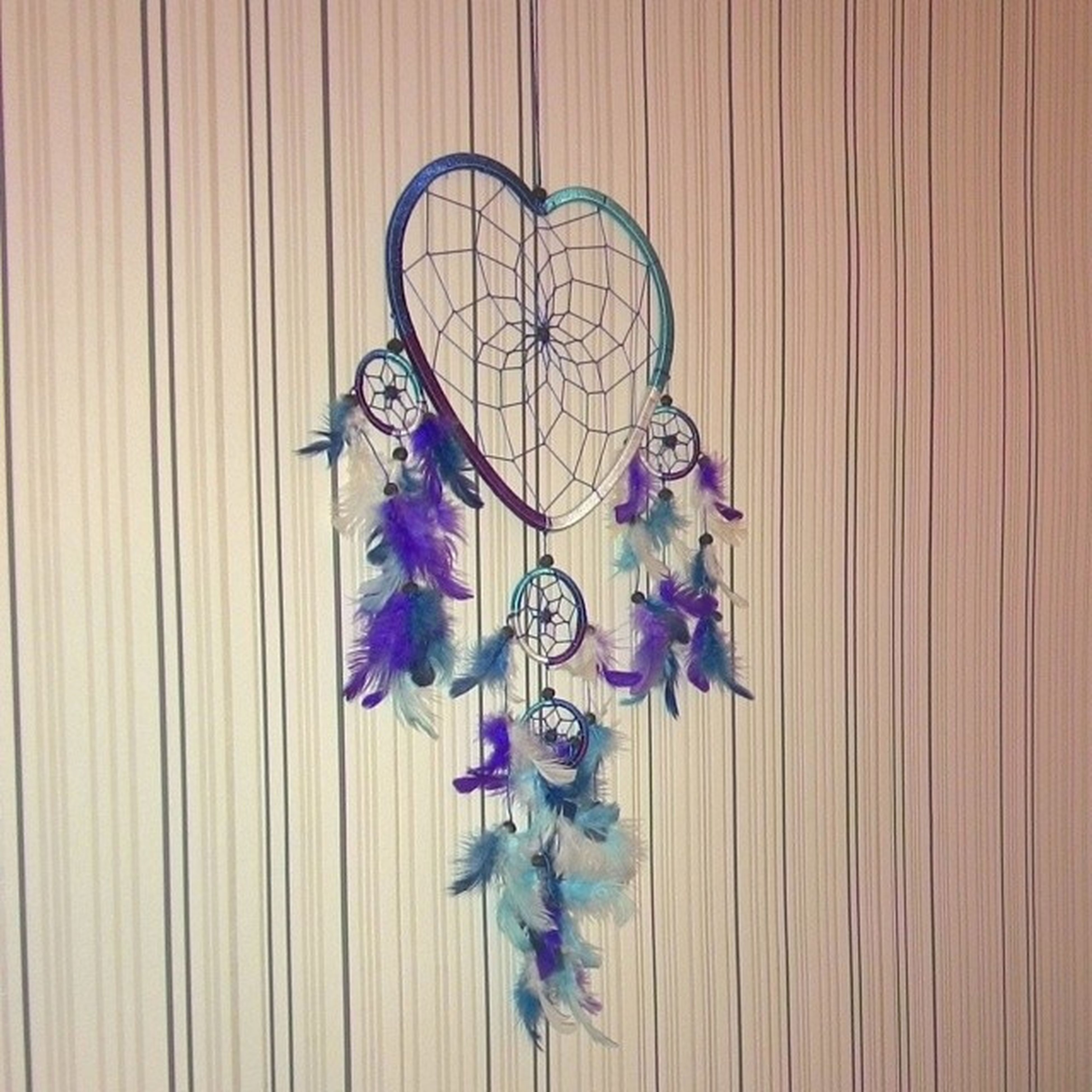 flower, indoors, close-up, wood - material, hanging, still life, decoration, wall - building feature, purple, blue, no people, creativity, wooden, art and craft, art, wall, variation, fragility, day, wood