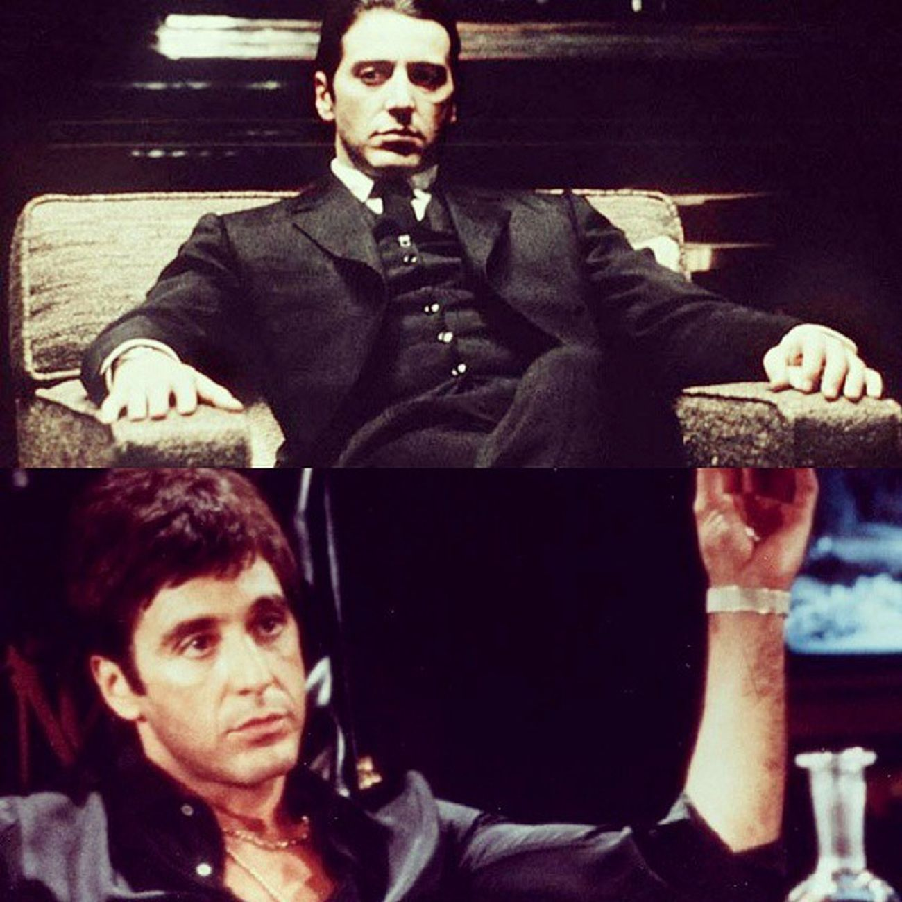 Heard the word, 'Mafia'? Then, your mind should imagine Al Pacino. <3 This Italian-American can characterize the same roles with contrast characters with added extravagance. xD Start Hollywood Movielove Alpacino Livinglegend Actingskills Blackattire Bestactorborntilldate Gangsterflicks Godfathertrilogy Dialogues Scarface Michaelcorleone TonyMontana Incomparable Inspiration Mafia  Stylish Italianaccent Contrastcharacter Cantstopthesehashtags Pacinofanforever Stop