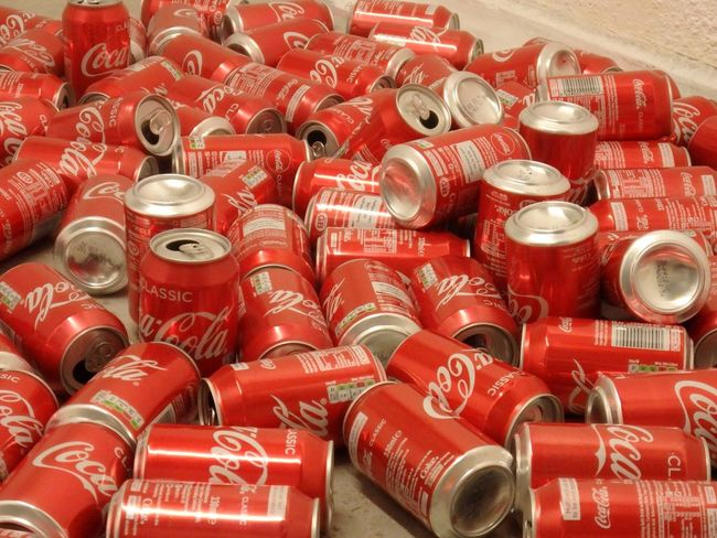 Red Indoors  Art Coke Cans Cocacola Myartwork Loveart Photo London Fine Art