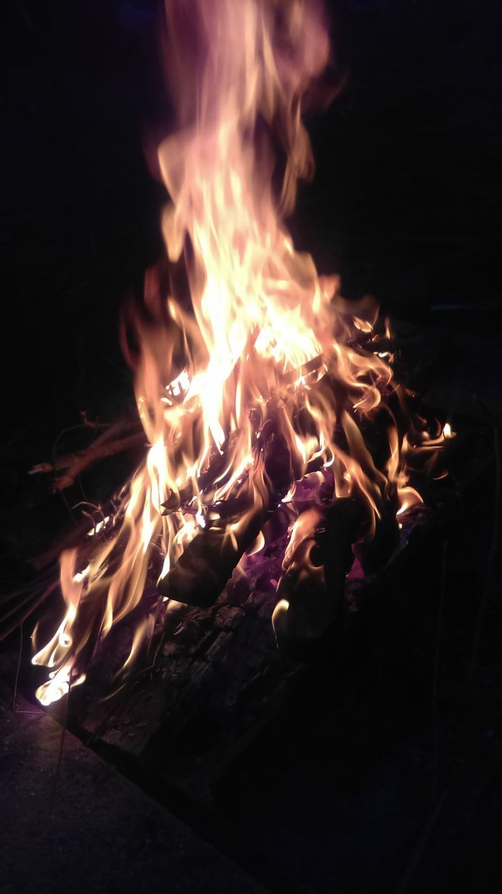 burning, flame, night, glowing, heat - temperature, no people, close-up, bonfire, outdoors, fire pit
