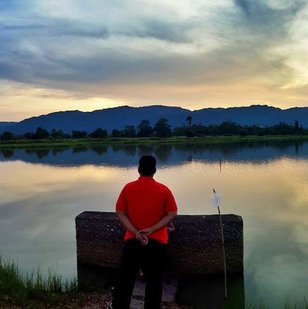 Loneliness Scenery Blue Sky Sunset Reflection Youth Of Today Contemplating For Peace Fate  Autumn Lost In The Landscape