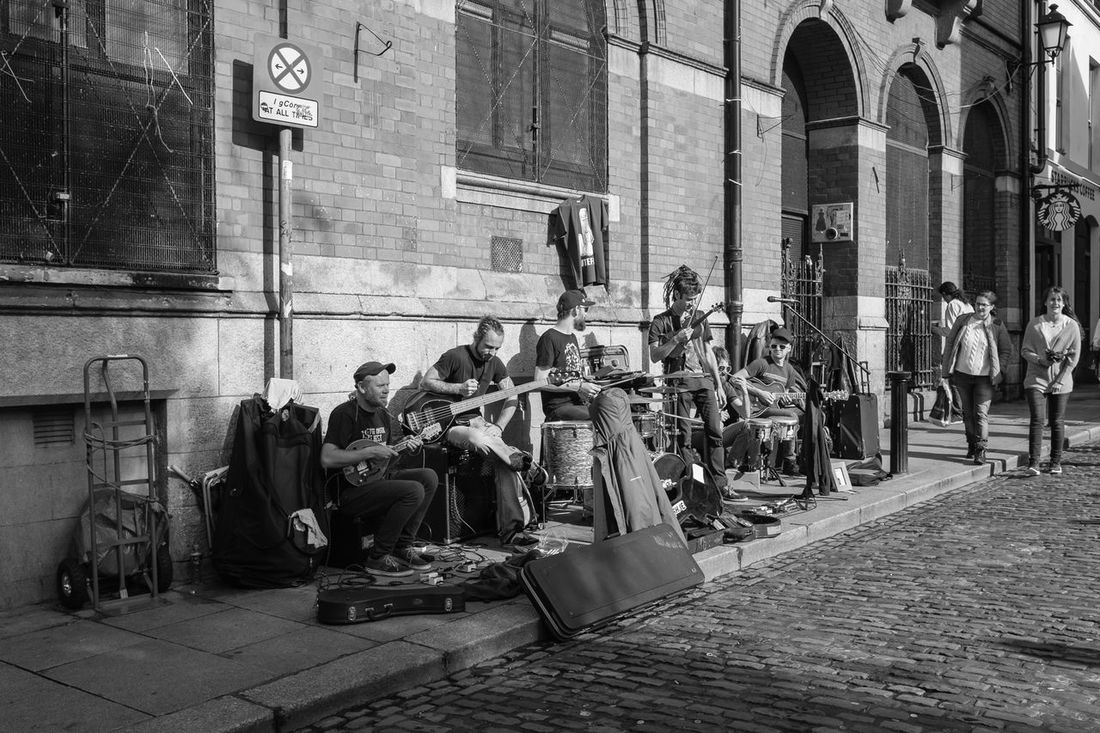 Sound Of Life for many in Dublin would be the many buskers on its streets. Dublin Busking Blackandwhite Streetphotography Streetphoto_bw Fuji X100s People Monochrome Ireland