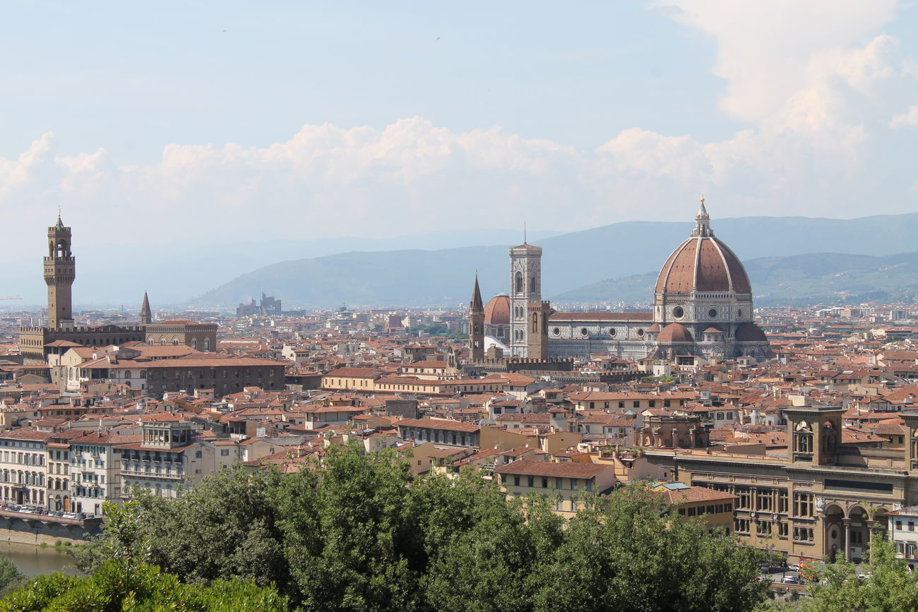 Architecture Building Exterior City Cityscape Cultures Day Dome Florence Italy Frainf Medieval No People Old Town Outdoors Place Of Worship Religion Sky Sunset Travel Destinations Tree Urban Skyline