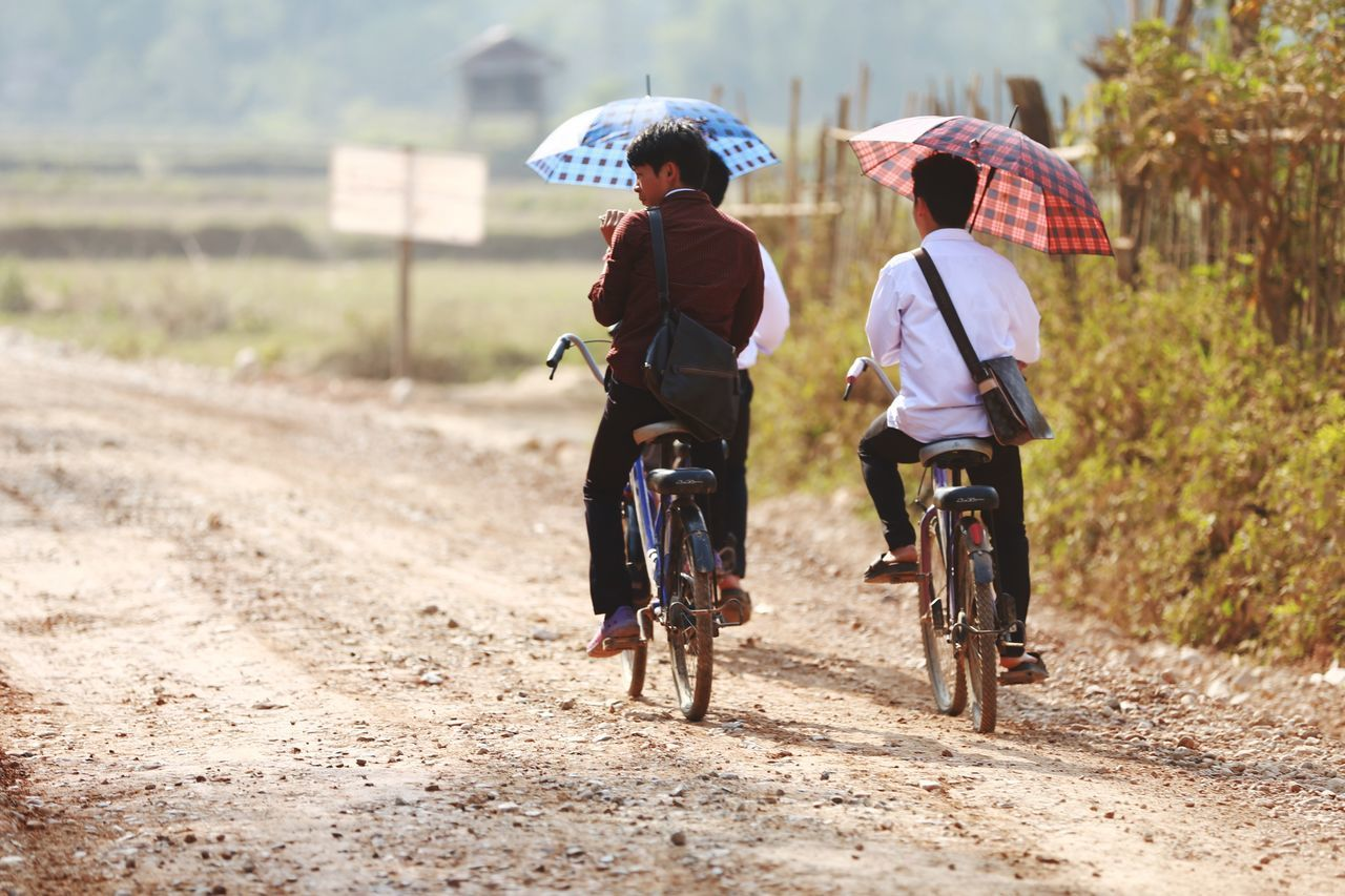 Two People Outdoors Full Length Day Dirt Road Learning Headwear Discovery People Men Adult Nature Afternoon After Lunch Myanmar Go Forward