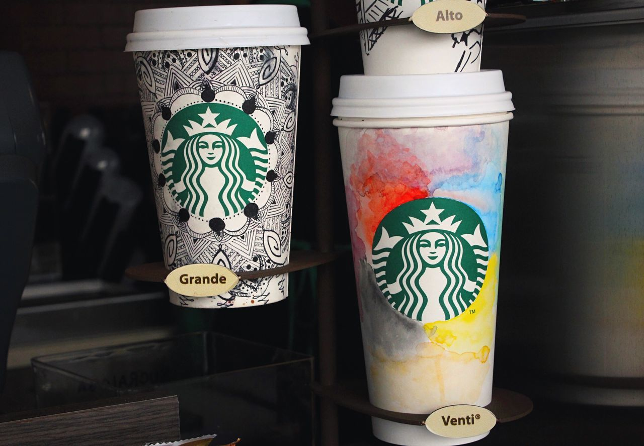 Close-up Design Lit Electric Light Man Made Object Multi Colored History Colors City Life Coffee Coffee Time Starbucks