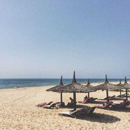 IPhoneography Beach Beachphotography Sea People People Watching Enjoying The Sun Holiday Travel Vietnam