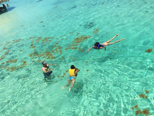 Family time on the beautiful waters of Little French Key Water Vacations Summer Swimming Sea Travel Destinations Honduras Roatan, Honduras Little French Key
