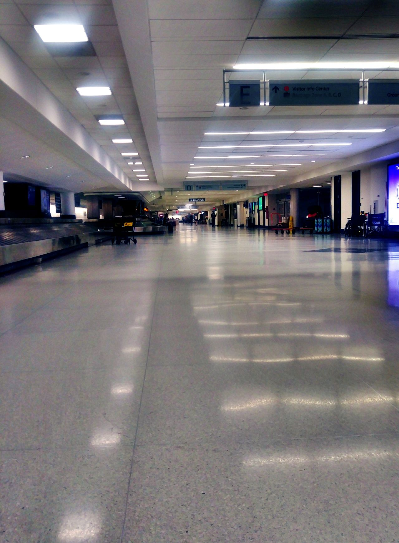Airport Baggage Claim At Night PhonePhotography Transportation
