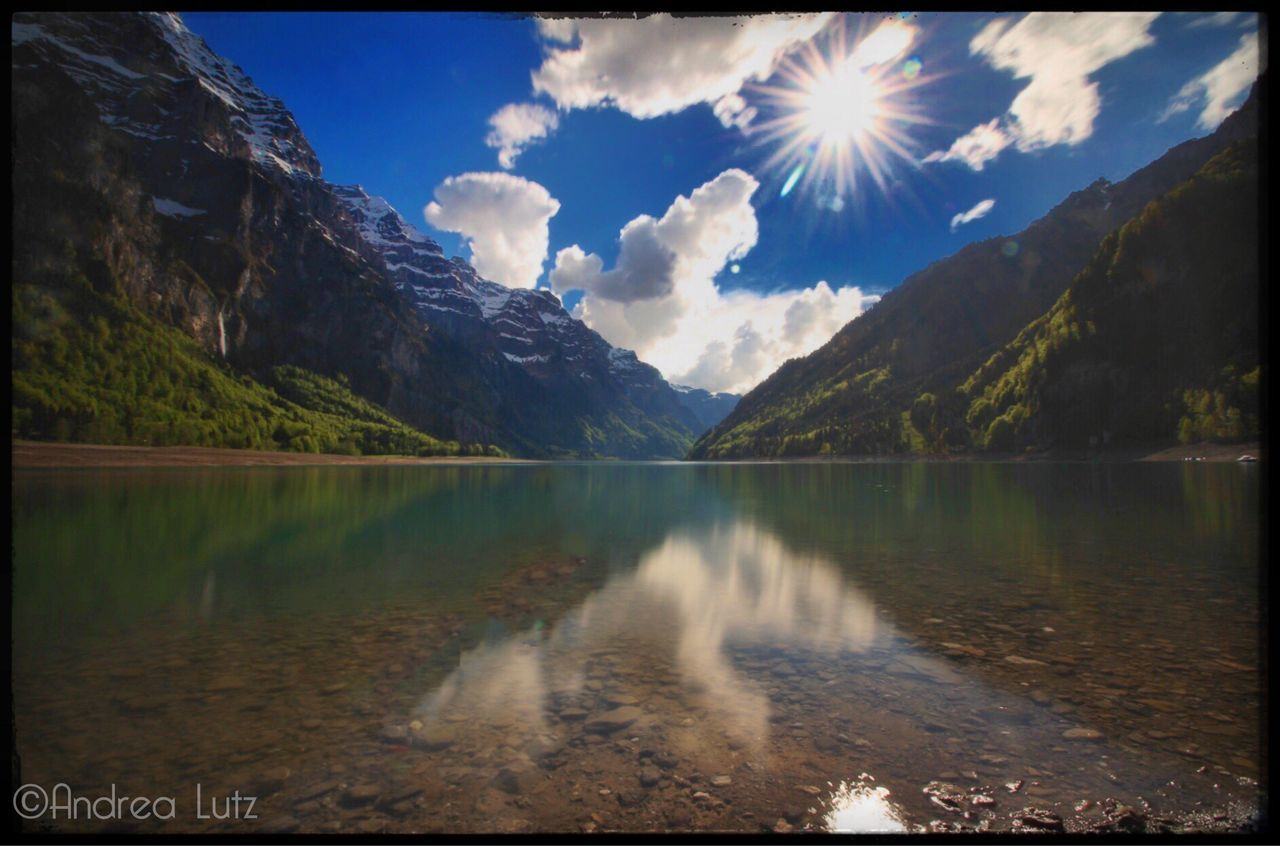 Klöntalersee Klöntal Schweiz Mountains Switzerland Beauty In Nature Bergsee Nature Photography Nature Sun Clouds And Sky Canonphotography Canon_photos