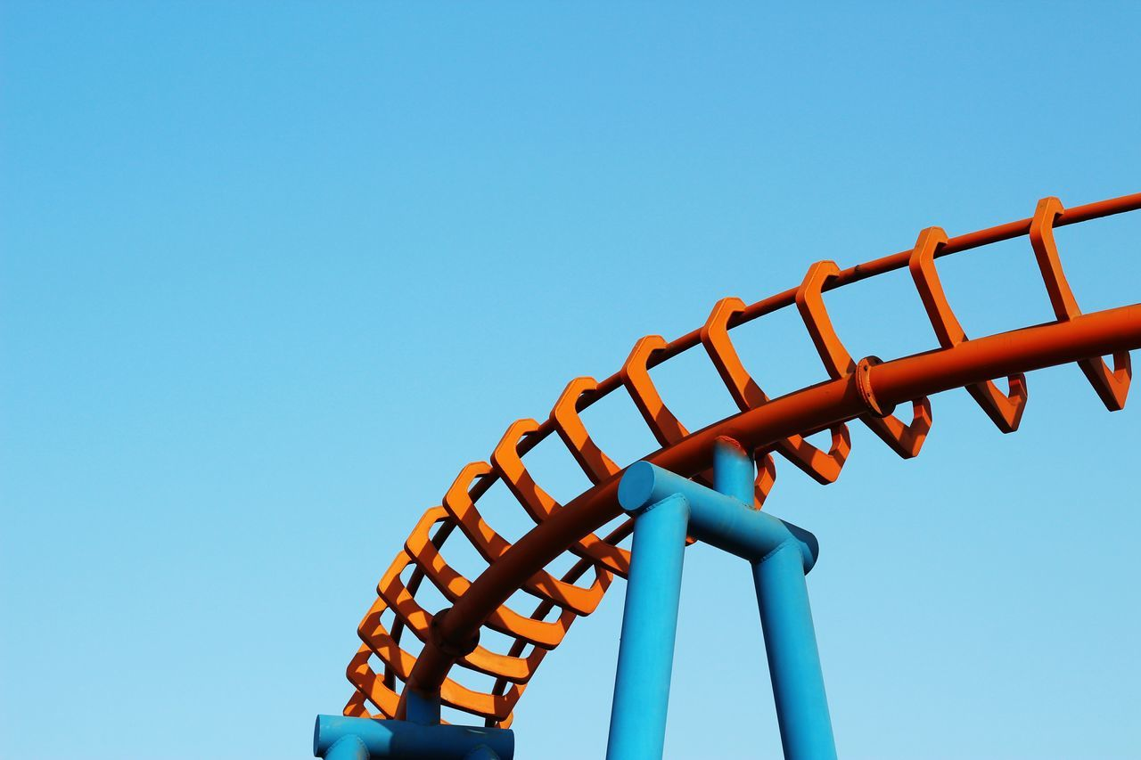 Beautiful stock photos of architecture,  Absence,  Amusement Park Ride,  Blue,  Built Structure