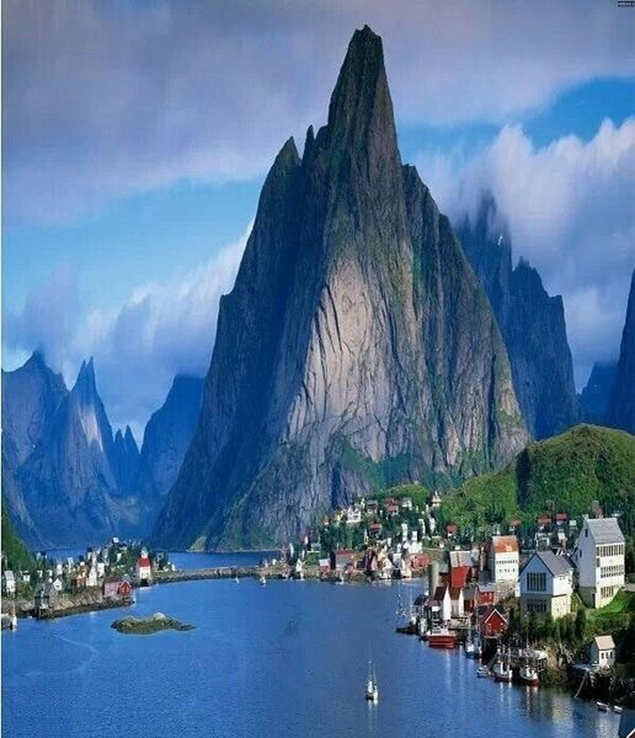 Beatiful norway Mountain Travel Destinations Nautical Vessel Travel Water Vacations Mountain Range Beauty In Nature Cloud - Sky Outdoors Nature Yacht No People Sky Day Yachting