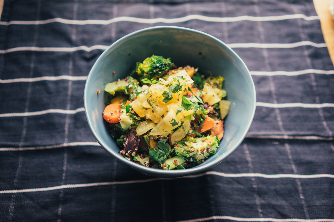 Abundance Abundance Bowl Bowl Clean Eating Close-up Food Food And Drink Freshness Healthy Eating Healthy Lifestyle Indoors  Indulgence Meal Organic Overhead View Ready-to-eat Salad Still Life Table Vegan Vegetable Delivery Heroes