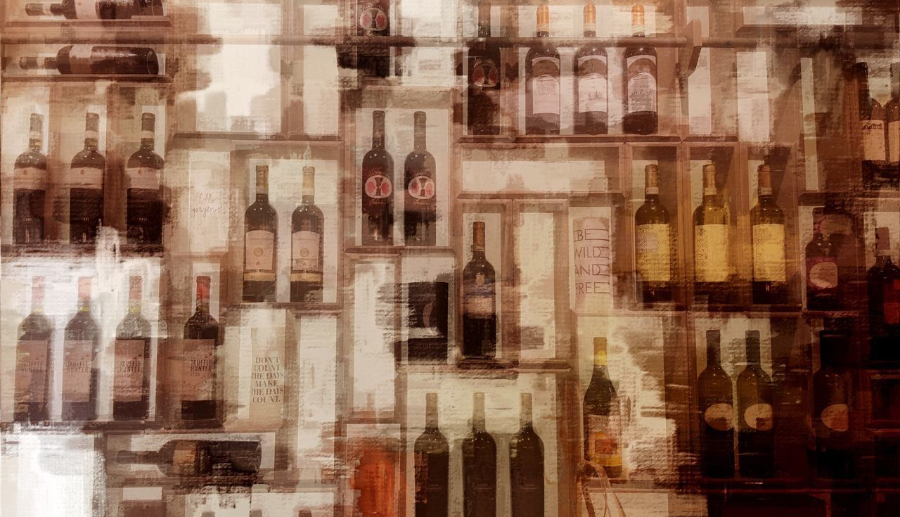 Everything In Its Place ArtWork Art, Drawing, Creativity Creativity Wine Board Wine Tasting Winery Directly Above Full Frame No People Drastic Edit EyeEm Gallery Variation Show Showroom Art Lifestyles Drinking Interior Views Wine Moments