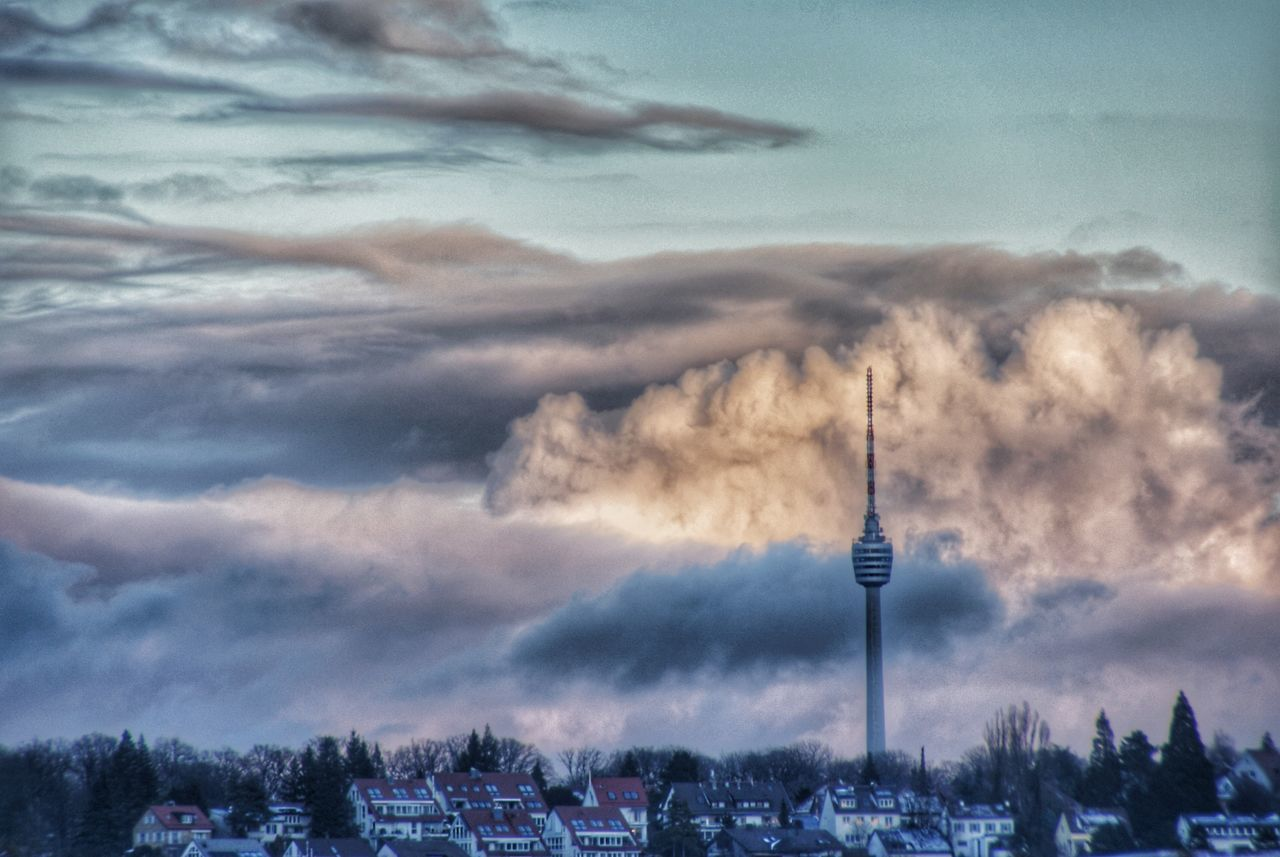 TV Tower Tv Tower Stuttgart Beauty In Nature Cloud - Sky Tower Architecture Day Outdoors No People Sky Nature Landscapes Clouds And Sky Scenics Tranquility